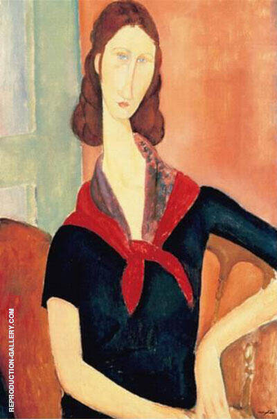 Young Woman with Scarf By Amedeo Modigliani