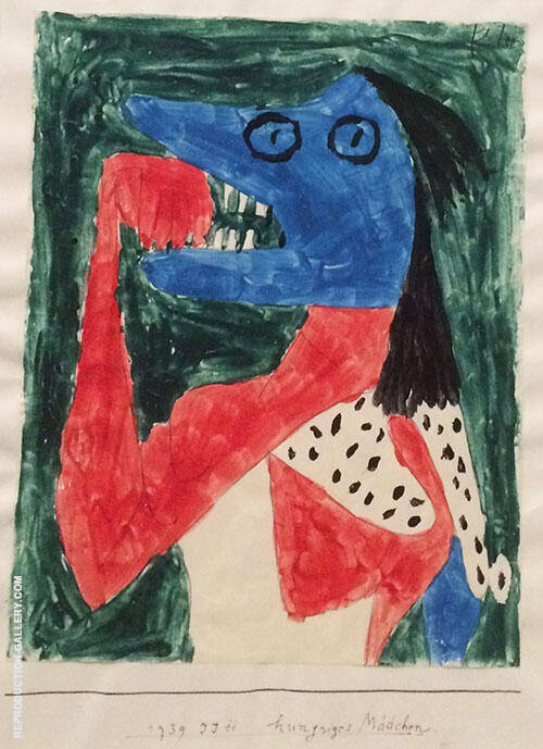 Hungry Girl 1939 By Paul Klee