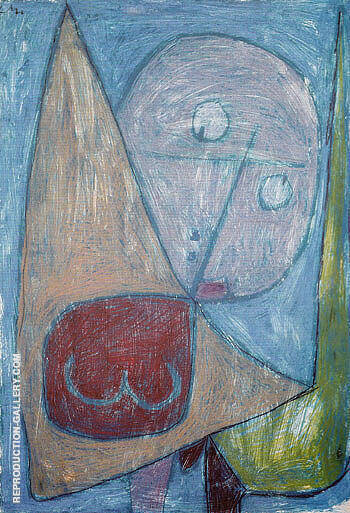 Reproduction of Angel Still Female 1939 by Paul Klee | Oil Painting Replica On CanvasReproduction Gallery
