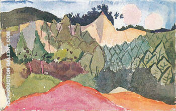 In the Quarry 1913 By Paul Klee Replica Paintings on Canvas - Reproduction Gallery