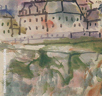 Houses near Stony Ground 1913 By Paul Klee - Oil Paintings & Art Reproductions - Reproduction Gallery
