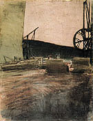 Quarry at Ostermundigen Two Cranes 1907 By Paul Klee