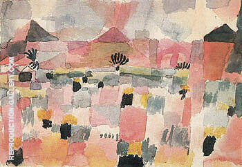 Reproduction of Saint Germain near Tunis 1914 by Paul Klee | Oil Painting Replica On CanvasReproduction Gallery