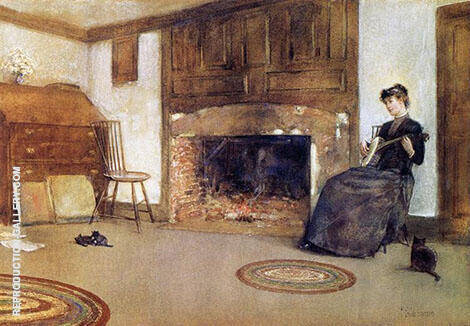 A Familiar Tune By Childe Hassam - Oil Paintings & Art Reproductions - Reproduction Gallery