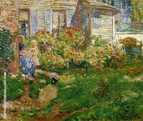 Reproduction of A Fishermans Cottage by Childe Hassam | Oil Painting Replica On CanvasReproduction Gallery