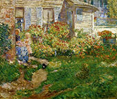 A Fishermans Cottage By Childe Hassam