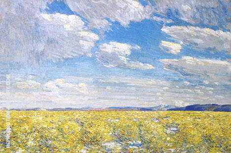 Afternoon Sky Harney Desert 1908 By Childe Hassam - Oil Paintings & Art Reproductions - Reproduction Gallery