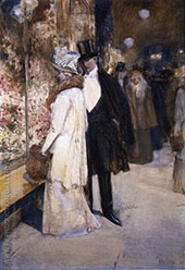 A New Years Nocturne New York By Childe Hassam