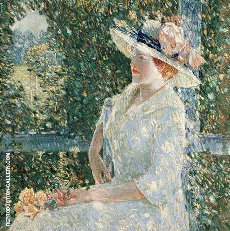 An Outdoor Portrait of Miss Weir 1909 Painting By Childe Hassam