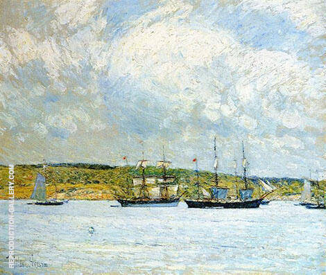 A Parade of Boats 1894 By Childe Hassam - Oil Paintings & Art Reproductions - Reproduction Gallery