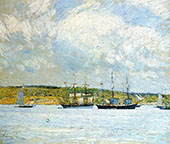A Parade of Boats 1894 By Childe Hassam