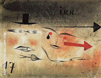 Seventeen 1923 Painting By Paul Klee - Reproduction Gallery