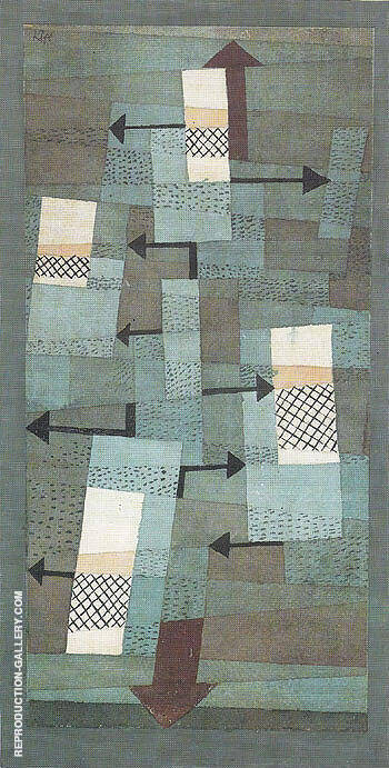 Reproduction of Wavering Balance 1922 by Paul Klee | Oil Painting Replica On CanvasReproduction Gallery