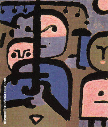 Three Exotic Youths 1938 By Paul Klee - Oil Paintings & Art Reproductions - Reproduction Gallery