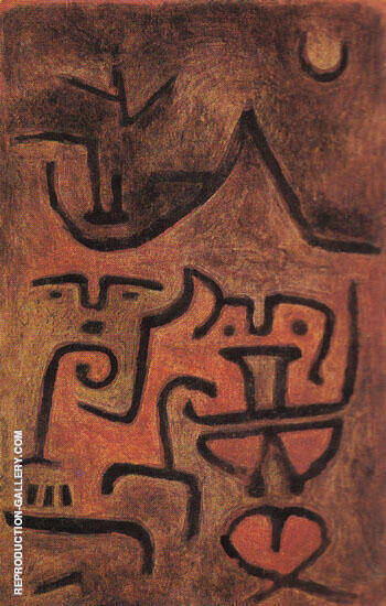 Earth Witches 1938 By Paul Klee Replica Paintings on Canvas - Reproduction Gallery