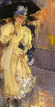 A Rainy Day New York By Childe Hassam