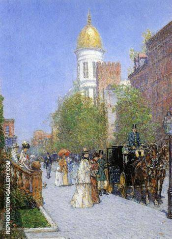 A Spring Morning By Childe Hassam - Oil Paintings & Art Reproductions - Reproduction Gallery