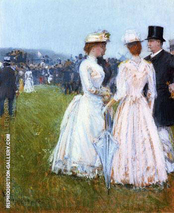 At The Grand Prix in Paris By Childe Hassam Replica Paintings on Canvas - Reproduction Gallery