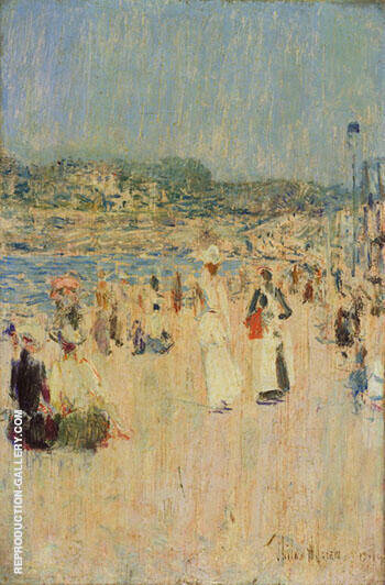 Beach at Newport 1891 By Childe Hassam