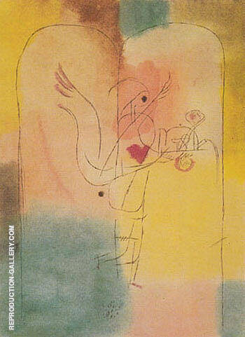 Genie Serving a Light Breakfast 1920 By Paul Klee Replica Paintings on Canvas - Reproduction Gallery