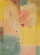Genie Serving a Light Breakfast 1920 By Paul Klee