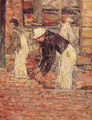 Bricklayers c1900 By Childe Hassam