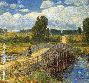 Bridge at Old Lyme By Childe Hassam - Oil Paintings & Art Reproductions - Reproduction Gallery