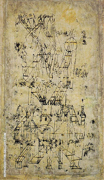 Castle in the Air 1922 By Paul Klee