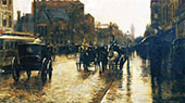 Columbus Avenue Rainy Day 1885 A By Childe Hassam