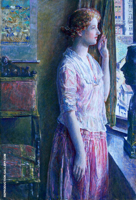 Easter Morning Portrait at a New York Window 1921 By Childe Hassam
