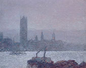 Houses of Parliament Early Evening 1898 By Childe Hassam