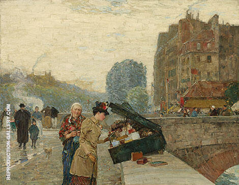The Quai St Michel 1888 By Childe Hassam