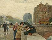 The Quai St Michel 1888 By Childe Hassam