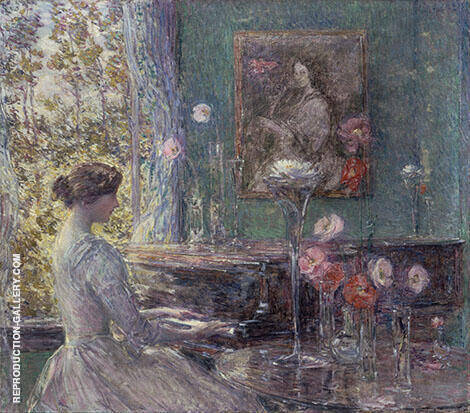Improvisation By Childe Hassam - Oil Paintings & Art Reproductions - Reproduction Gallery