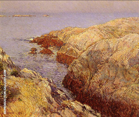 Isles of Shoals B 1912 By Childe Hassam Replica Paintings on Canvas - Reproduction Gallery