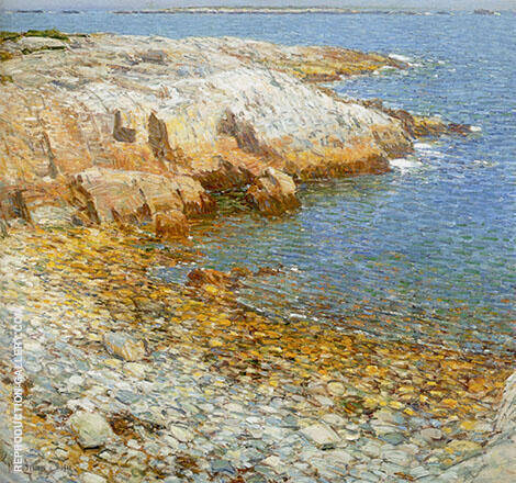 Reproduction of Isles of Shoals Broad Cove 1911 by Childe Hassam | Oil Painting Replica On CanvasReproduction Gallery