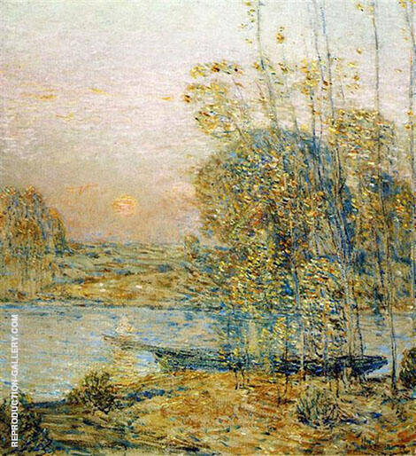 Late Afternoon Sunset 1903 By Childe Hassam - Oil Paintings & Art Reproductions - Reproduction Gallery