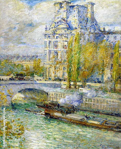 Le Louvre Et Le Pont Royal By Childe Hassam