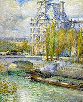 Le Louvre Et Le Pont Royal By Childe Hassam