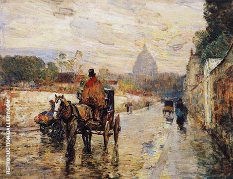 Le Val De Grace Spring Morning 1888 By Childe Hassam - Oil Paintings & Art Reproductions - Reproduction Gallery