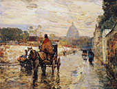 Le Val De Grace Spring Morning 1888 By Childe Hassam