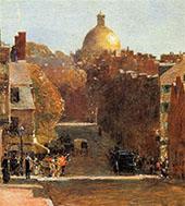 Mount Vernon Street Boston 1890 By Childe Hassam