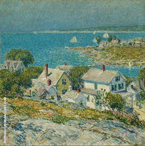 New England Headlands 1899 By Childe Hassam Replica Paintings on Canvas - Reproduction Gallery