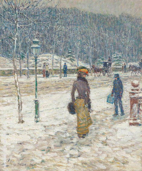 New York Street Painting By Childe Hassam - Reproduction Gallery