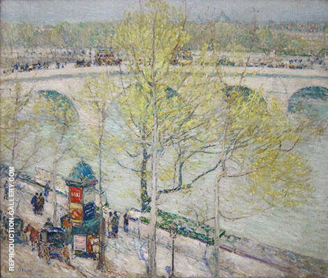 Pont Royal Paris By Childe Hassam