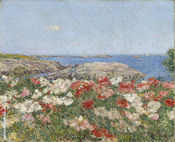 Poppies Isles of Shoals 1890 Painting By Childe Hassam