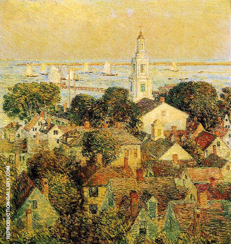 Reproduction of Provincetown 1900 by Childe Hassam | Oil Painting Replica On CanvasReproduction Gallery
