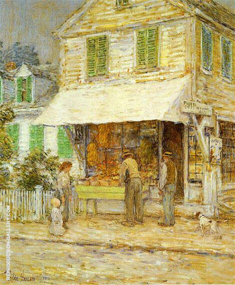 Provincetown Grocery Store 1900 By Childe Hassam - Oil Paintings & Art Reproductions - Reproduction Gallery