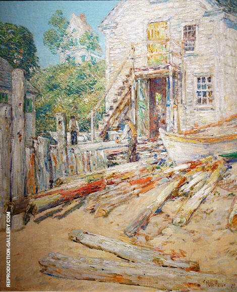 Reproduction of Riggers Shop at Provincetown by Childe Hassam | Oil Painting Replica On CanvasReproduction Gallery