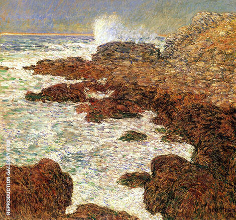 Seaweed and Surf Appledore By Childe Hassam